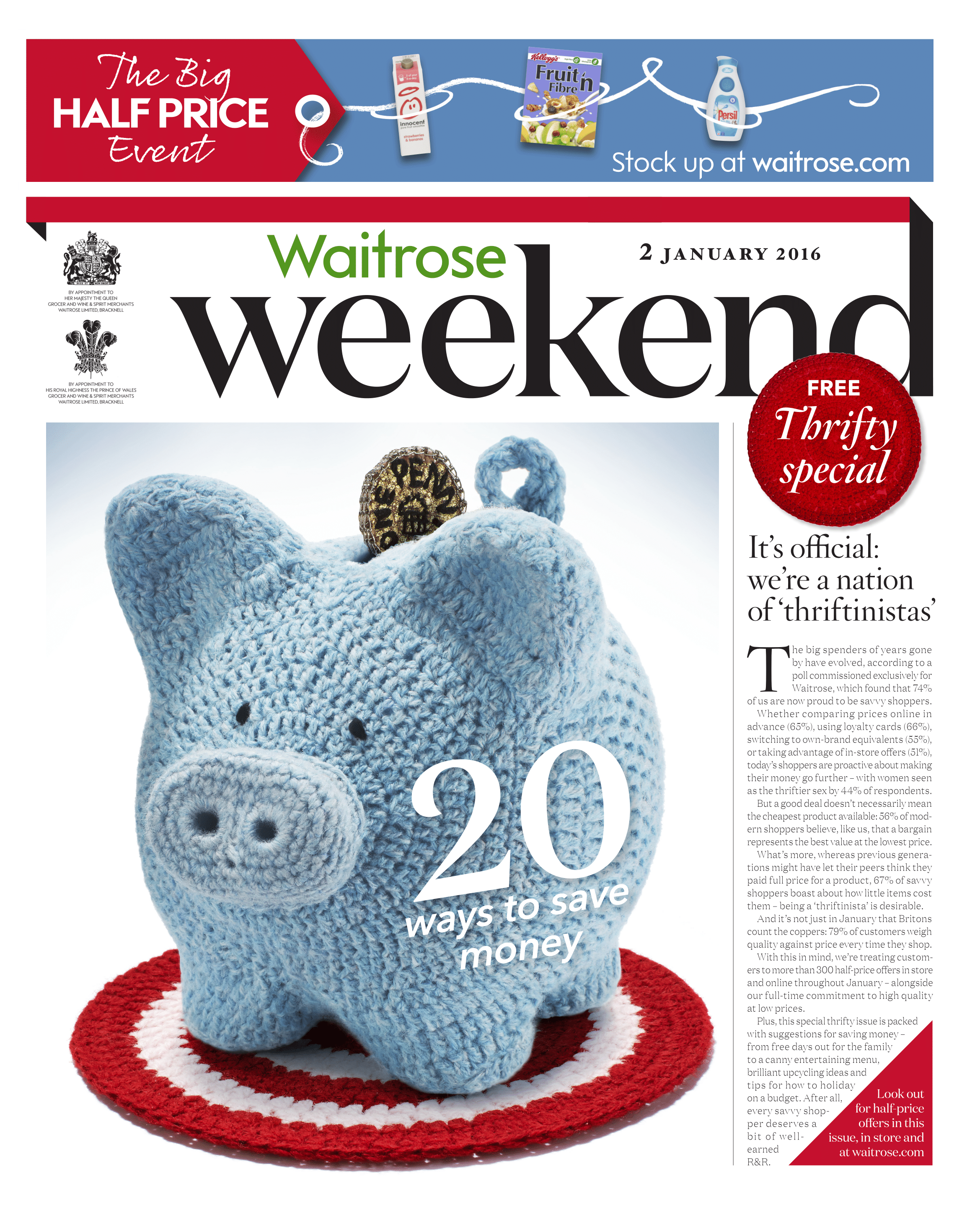 Crocheted Piggy Bank Waitrose Weekend Magazine