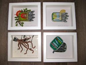 Tinned sardines and Squid