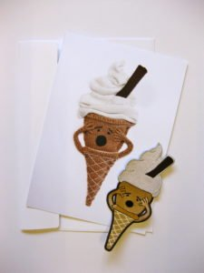 The Ice-Scream sew on badge