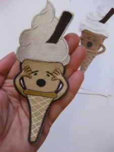 Ice-Scream sew on badge