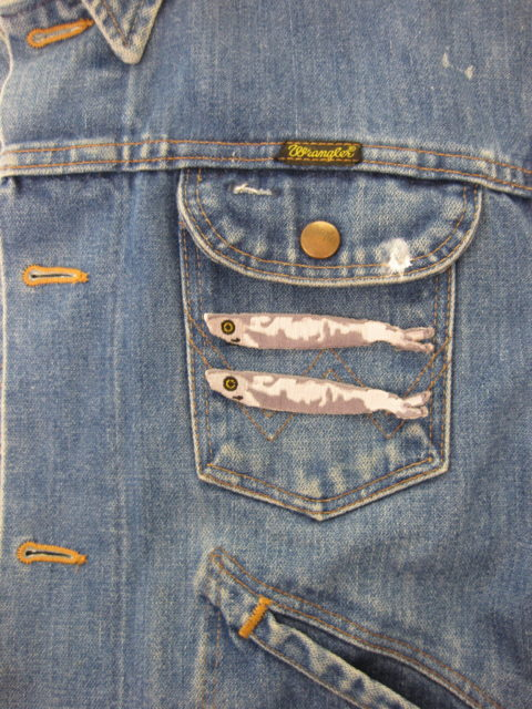 Sardine sew on patches