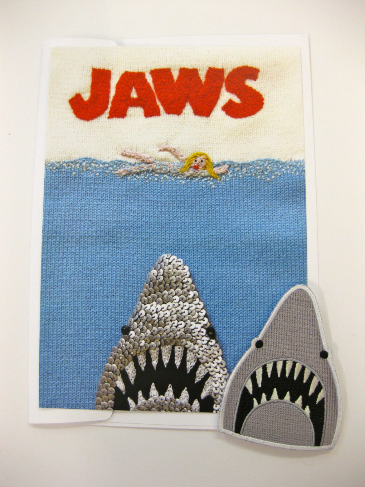 Jaws sew on patch