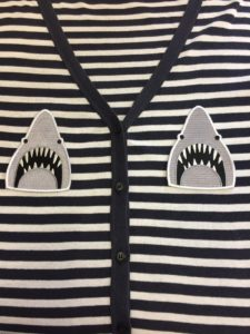 Jaws sew on patch.