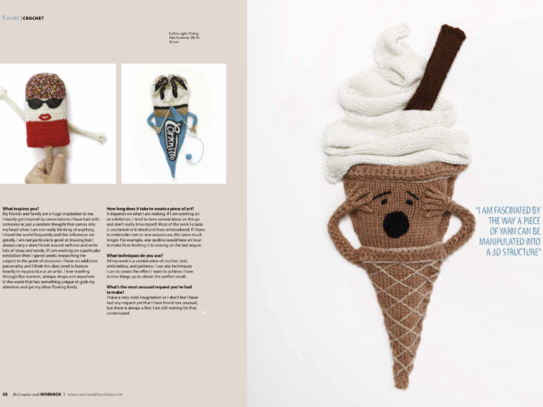 Create Crochet Magazine Kate Jenkins Witty Knits Article