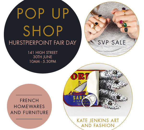 'Pop Up Shop' at Hurstpierpoint fair day this Saturday