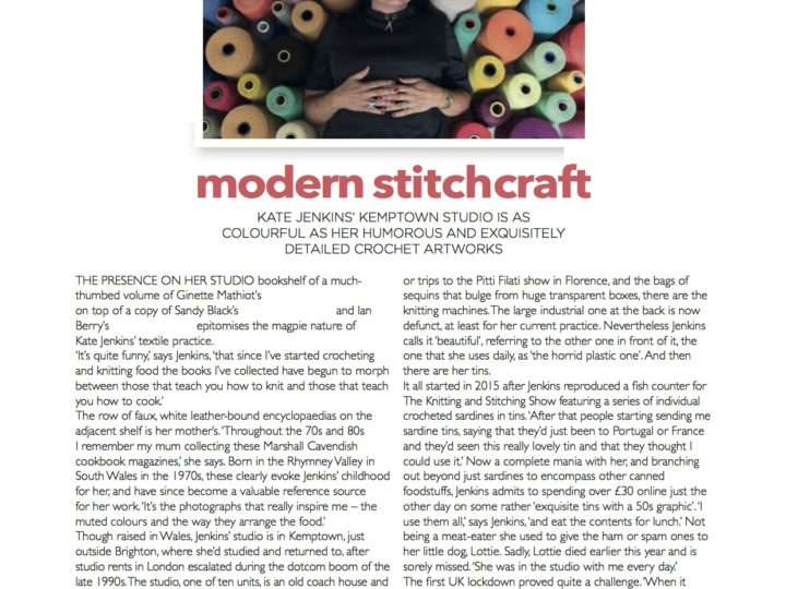 Featured in January/February 2021 Embroidery Magazine